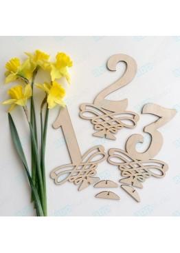 Номера деревянные с вензелем (арт.n13)