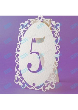Номера ажурные картон (арт.n1)