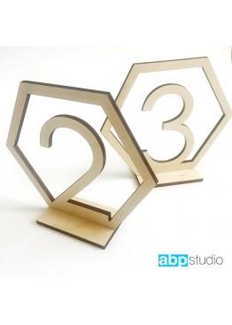 Номера деревянные шестигранник (арт.n18)
