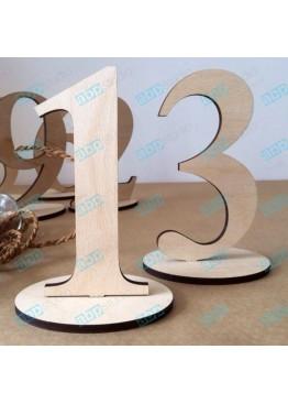 Номера деревянные на подставке (арт. n3)