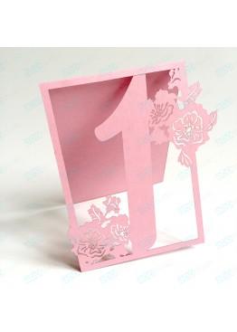 Номера ажурные маки картон (арт.n4)