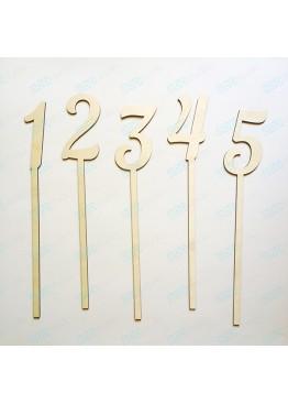 Номера деревянные на палочке (арт. n5)