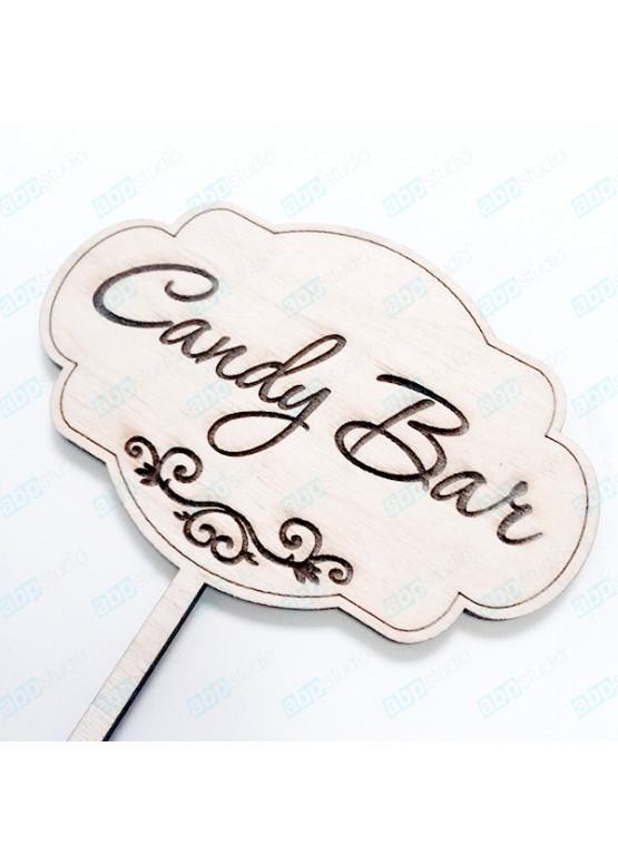 Топер Candy Bar фигурный (арт.tp1)