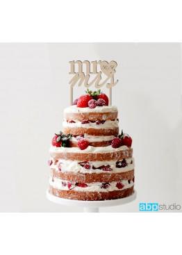 Топер в торт с mr&mrs с инициалами  (арт.tpt10)