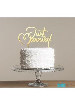 Топер в торт Just Married  (арт.tpt12)