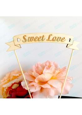 Топер в торт Sweet Love (арт.tpt14)