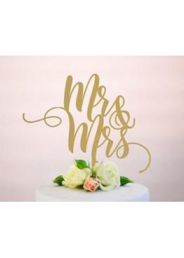 Топер в торт Mr&Mrs (арт.tpt16)