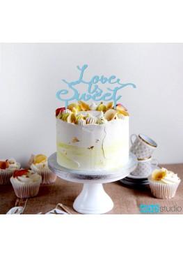 Топер в торт Love is sweet (арт.tpt13)