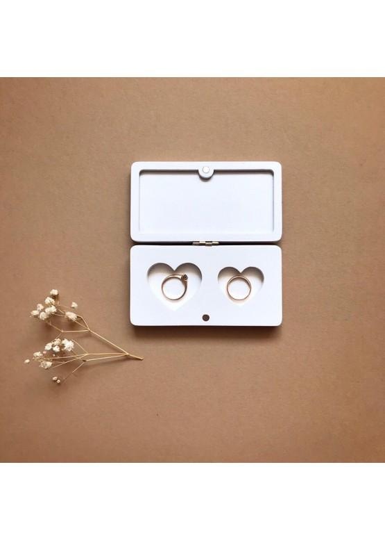Шкатулка для колец 2 сердца. Размер 10,5х6х2 см (арт. shk12)