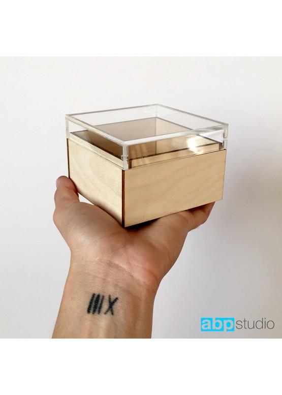 Коробочка для колец с прозрачной крышкой  (арт. Krkp1)