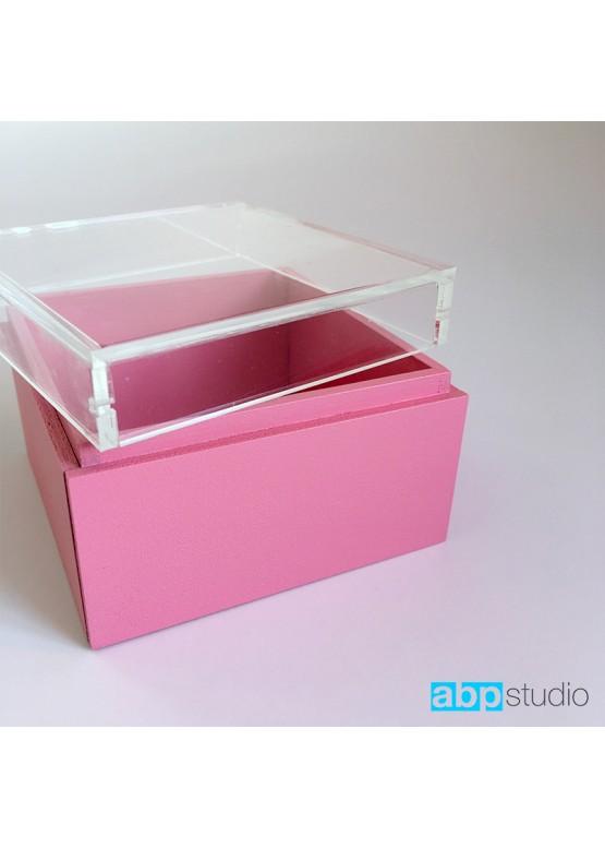 Коробочка для колец с прозрачной крышкой и покраской  (арт. Krkpp1)