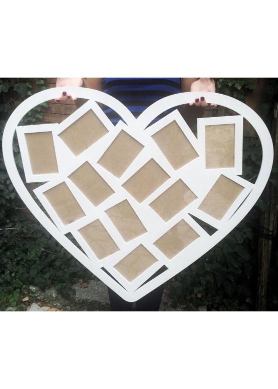 Фоторамка сердце 14 фото  (арт.ft16)