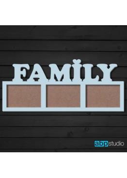 Фоторамка Family 3 фото (арт.ft4)