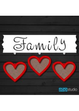 Фоторамка Family 3 фото (арт.ft6)