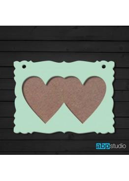Фоторамка 2 сердца  (арт.ft9)