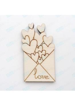 Любовный конверт (арт.Сhb62)