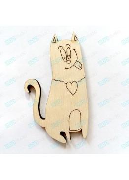 Котик с сердцем(арт.Сhb25)