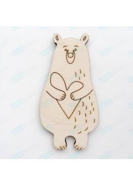 Медведь с сердцем  (арт.Сhb67)
