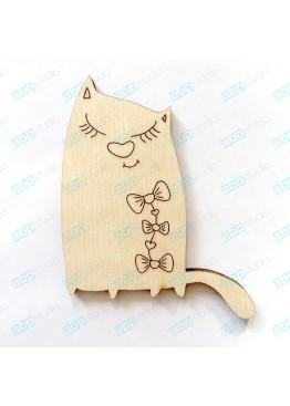 Кошечка с бантиками (арт.Сhb26)