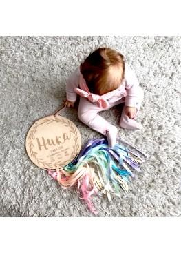 Метрика детская круглая с лентами  (арт.mt10)