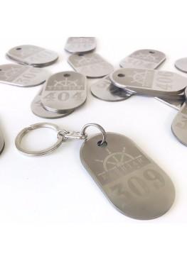 Номерок на ключи металл с гравировкой.  Минимальный заказ 30шт. (арт.Nk6)
