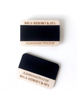 Бейдж  деревянный меловый.  (арт.Bj12)