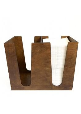 Салфетница высокая, 2 отделения (арт.Slf17)