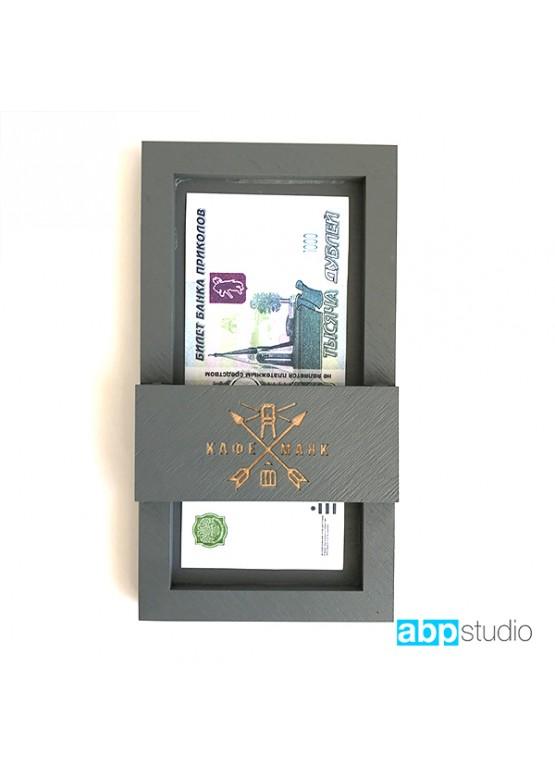 Счетница карман с покраской морилкой и гравировкой (арт.Sch7)