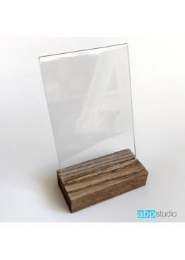 Тейбл тент A6 на деревянном основании наклонный (арт.Tt7)