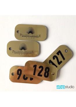 Номерок на ключи пластик золото/серебро (арт.Nk3)