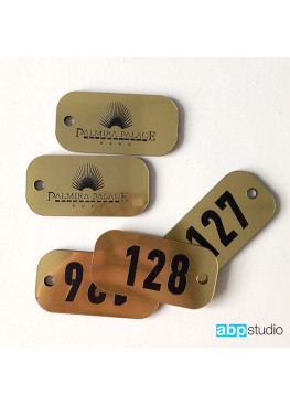 Номерок на ключи пластик золото (арт.Nk3)